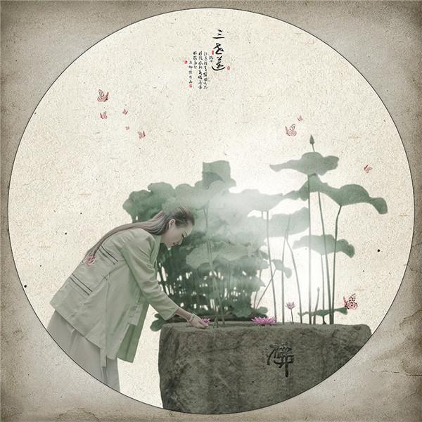 中国风简笔画后期作品:三世莲(2)