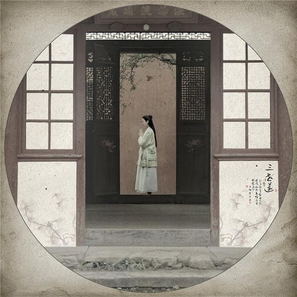 中国风简笔画后期作品:三世莲(3)