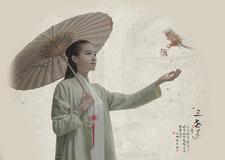 中国风简笔画后期作品:三世莲