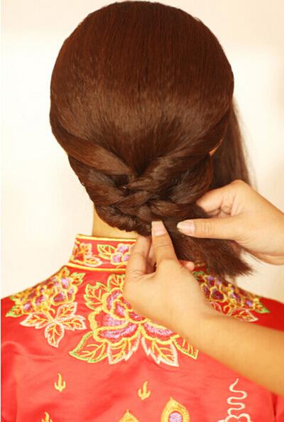 中式发型新娘步骤