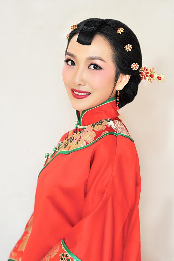 短发秀禾造型型教程 教你打造古典美新娘图片