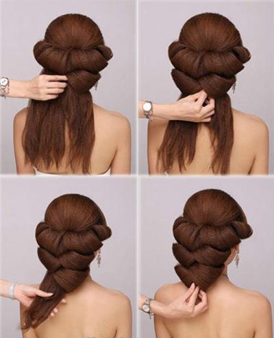 最新韩式新娘盘发发型