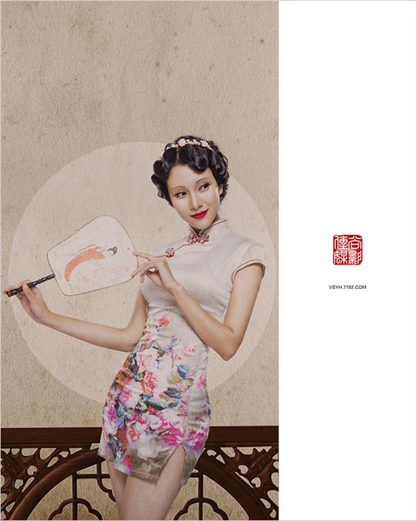 工笔画是中国古典绘画技法,而摄影属现代科学,将二者融合进人像摄影