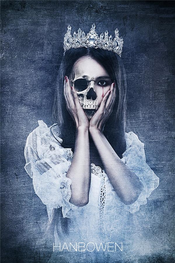哥特式创意后期视频:骷髅作品(2)_设计欣赏_影钓鱼新娘钩吃图片
