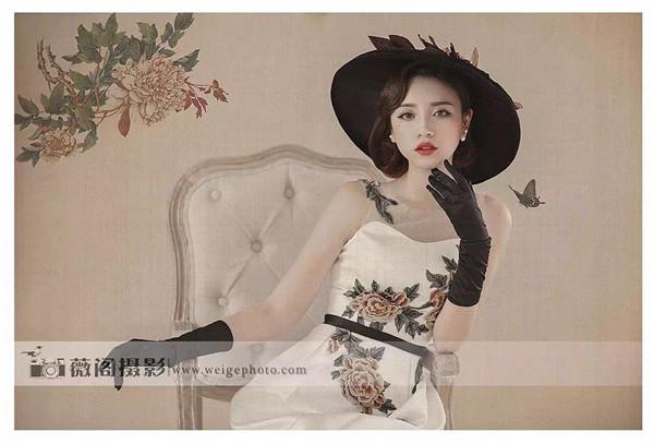 中国风工笔画后期婚纱样片