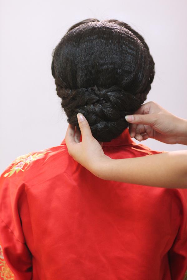 中式新娘编发教程 打造古典而高贵的情态