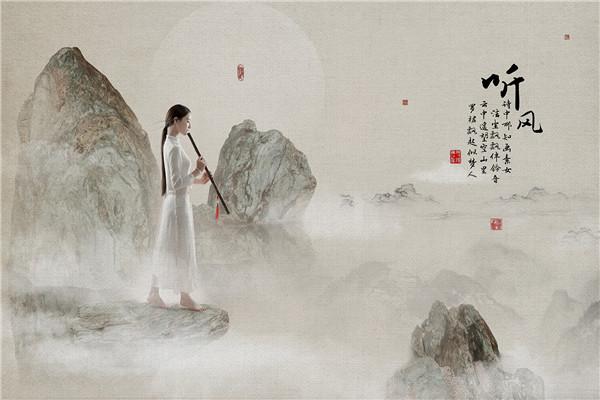 中国工笔画风后期作品:听风