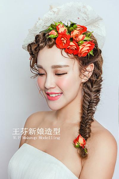 清新田园风新娘造型 犹如花仙子一般美丽动人