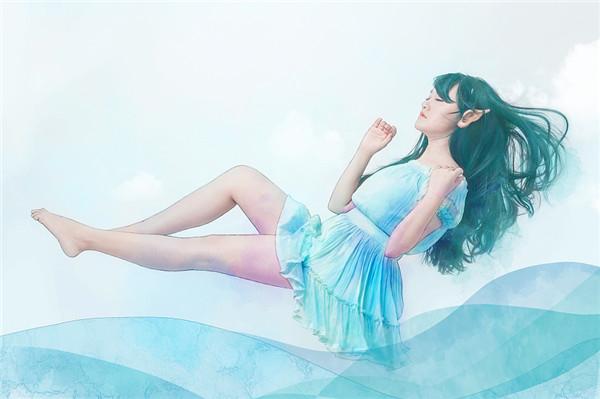 人像摄影后期转手绘作品:水彩精灵(2)