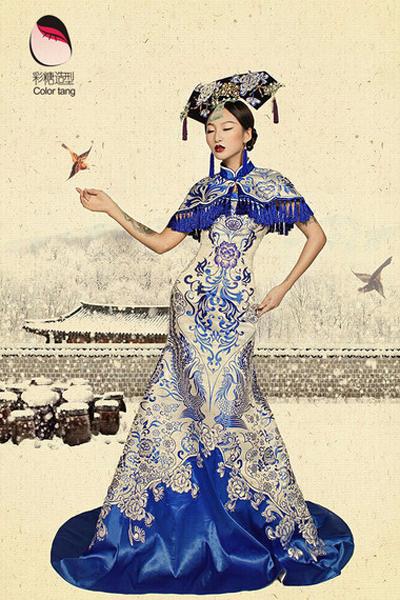 古代经典中式新娘造型 回归中国之美