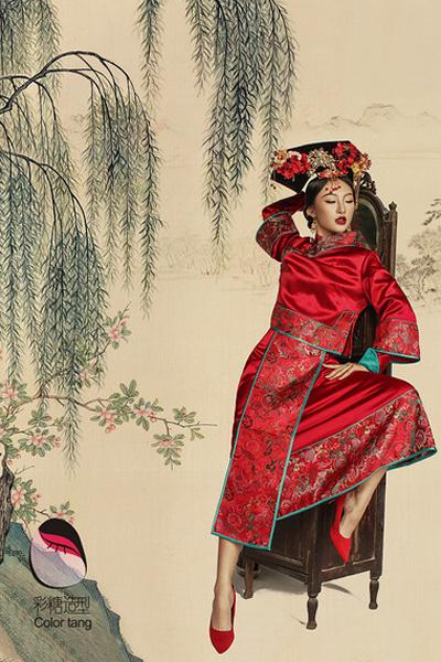 古代经典中式新娘造型 回归中国之美图片