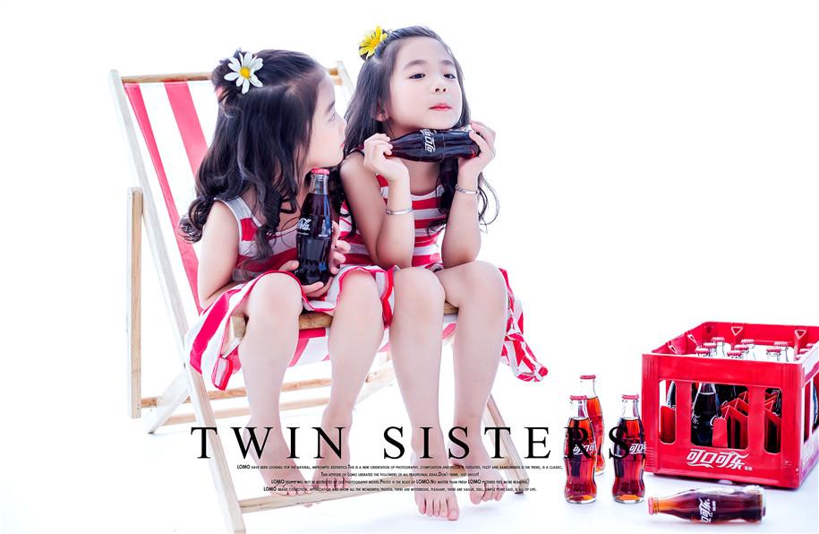 双胞胎女孩 儿童摄影