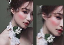 最新影楼资讯新闻-浪漫油画仙气造型 让新娘美得更动人