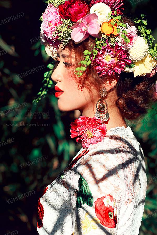 戴上一顶浪漫花冠 森系新娘造型美仙了图片