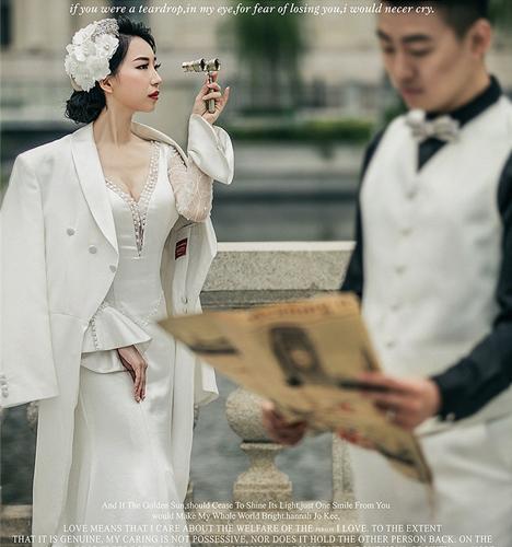 欧式建筑 婚纱照