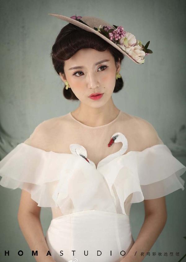 复古小清新新娘造型 美出新高度_妆面赏析_影楼化妆