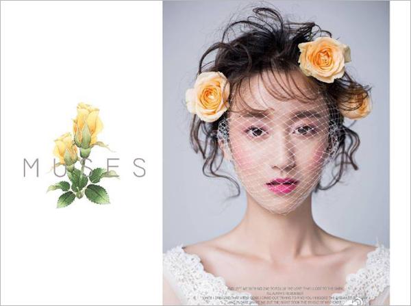 新娘花朵头饰 清新脱俗展现独特风格