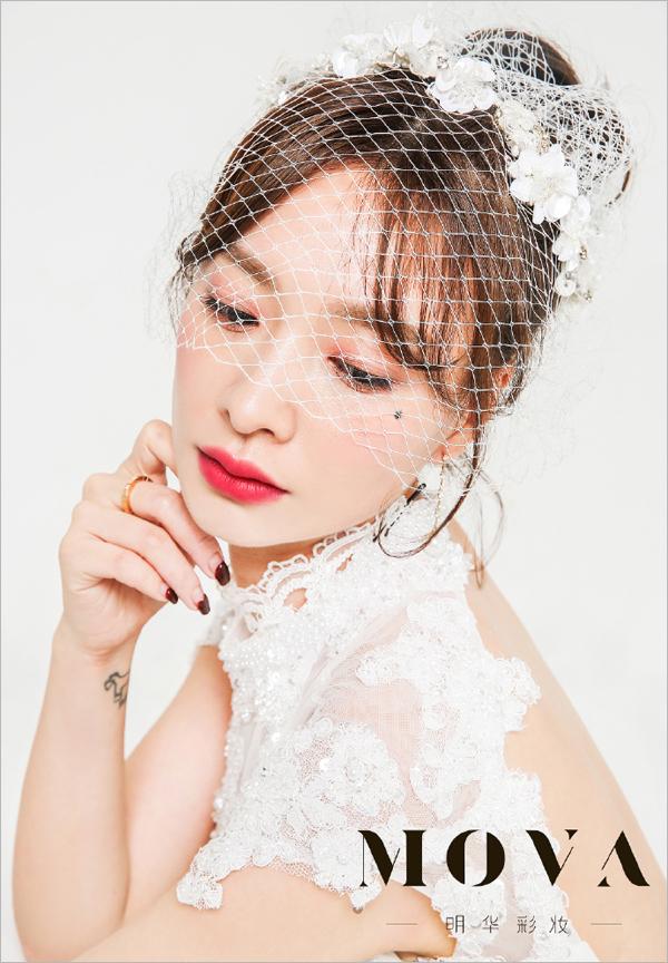 日系甜美妆容 完美展现新娘的清新甜美范儿图片