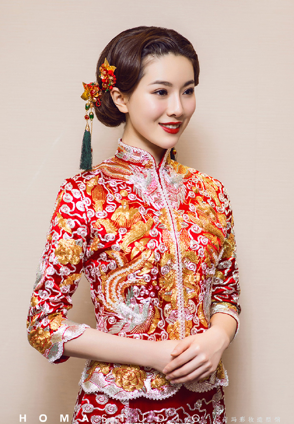 古典中式新娘造型 演绎温婉娴熟中国风_妆面赏析_影楼