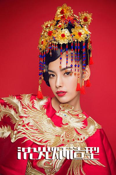 秀禾服中式新娘发型 尽显东方女性美感