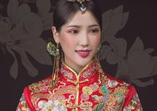 精美东方韵味 惊艳全场的新娘头饰造型