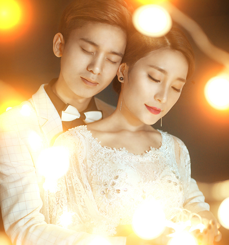 暖光下的幸福 婚纱照