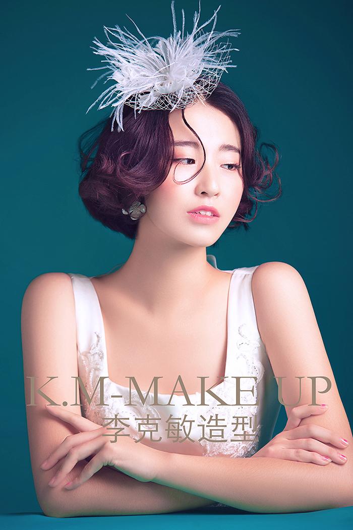 韩式短发新娘