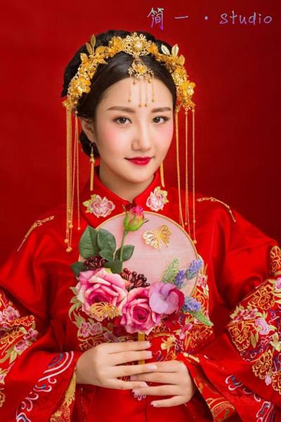唯美的古代新娘妆容 温婉优雅清新脱俗图片