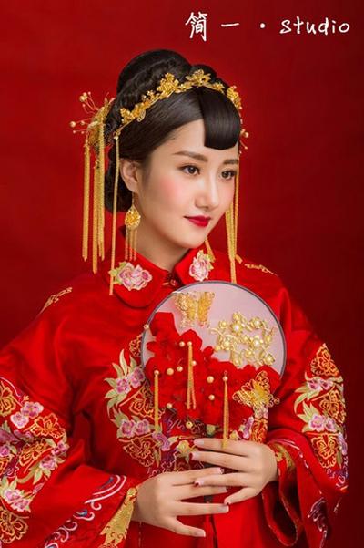 唯美的古代新娘妆容 温婉优雅清新脱俗