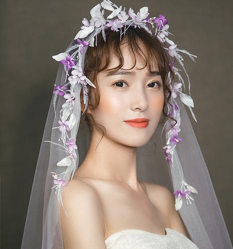 新娘晚装造型 一图片