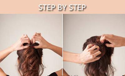 头发手撕花步骤图片