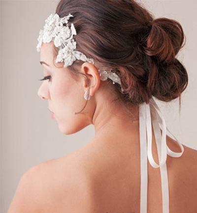 **新娘发型之精致复古新娘盘发步骤详解