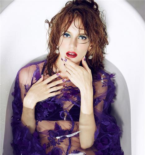 紫色系魅惑造型 化妆造型