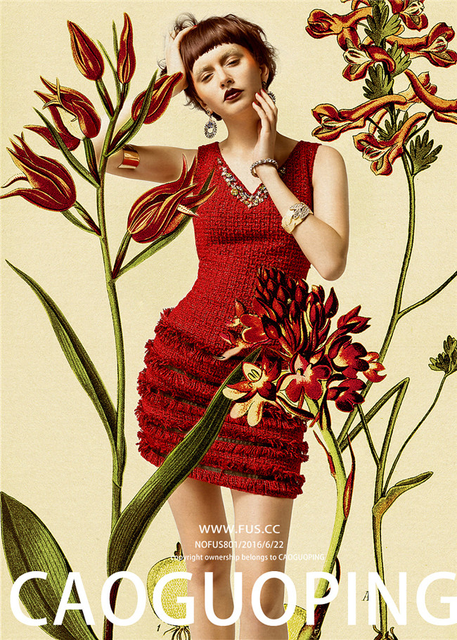 工笔画风格后期·时尚女装大片欣赏