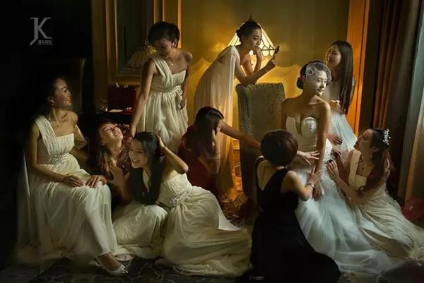 摄影实践技巧 婚礼摄影中合影的秩序和趣味
