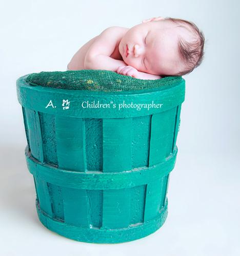 满月 熟睡中 儿童摄影