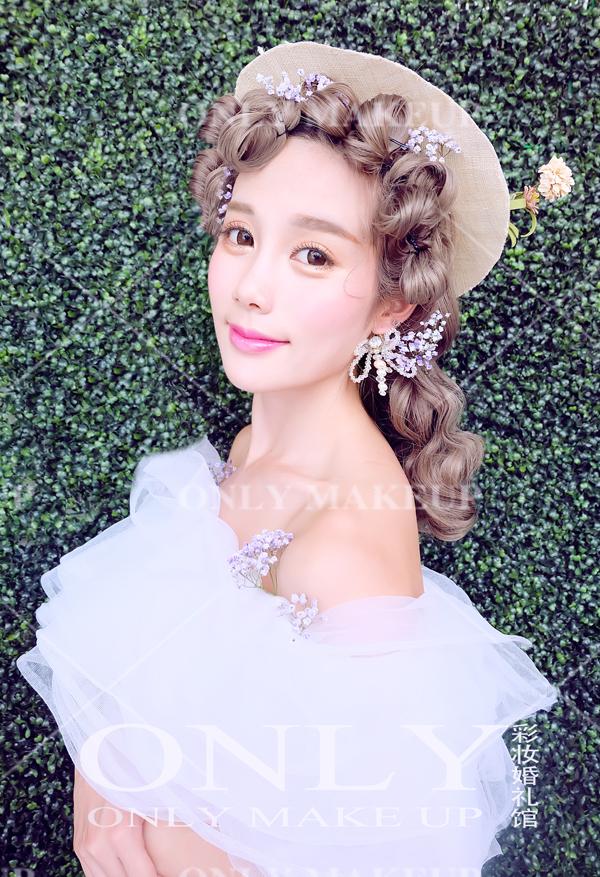 韩式新娘造型 展现甜美新娘柔情典雅一面_妆面赏析