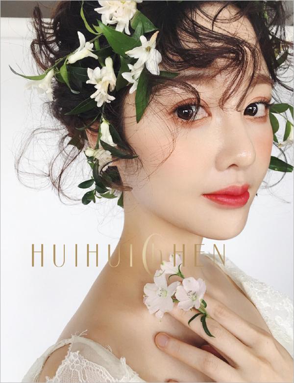 暖色系新娘造型 花朵点缀仙气十足图片