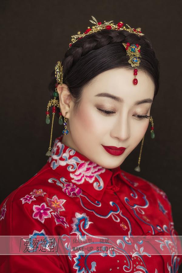 爱上中国风 中式新娘妆容欣赏图片