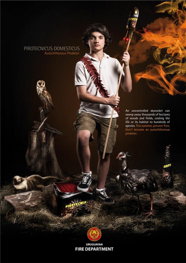 乌拉圭消防公益广告设计作品欣赏图片