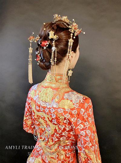 中式新娘发型 打造新娘古典气质之美