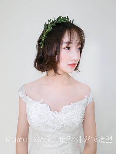 短发森系新娘造型 甜美可爱是少女不变的情思