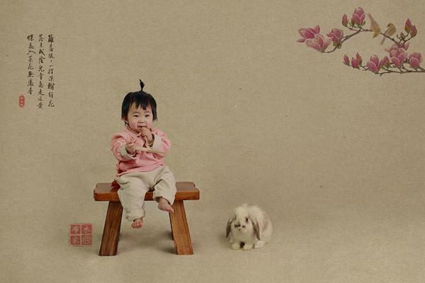 越中国越时尚 中国风宝宝照