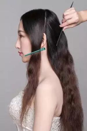注意事项:     1,注意头发较长点的新娘会更适合此款造型一些