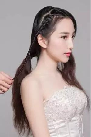 > 正文     注意事项:     1,注意头发较长点的新娘会更适合此款造型