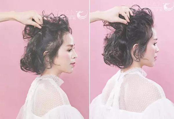 韩式短发抽丝发型教程 将新娘淡定的气质由心而牵发