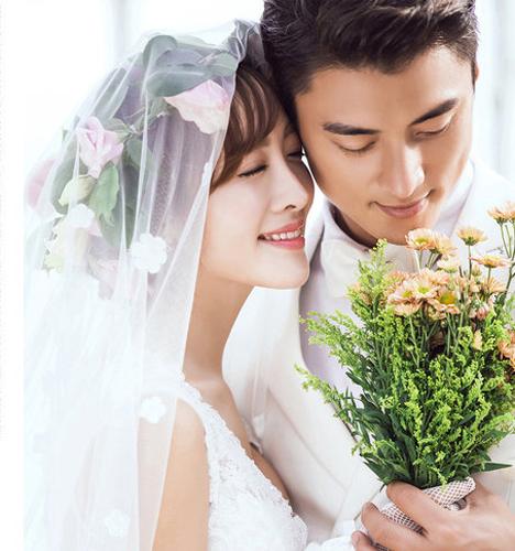 白色依恋 婚纱照