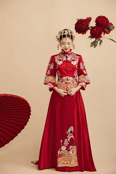 最美中式新娘盘发造型 追求属于自己的美丽