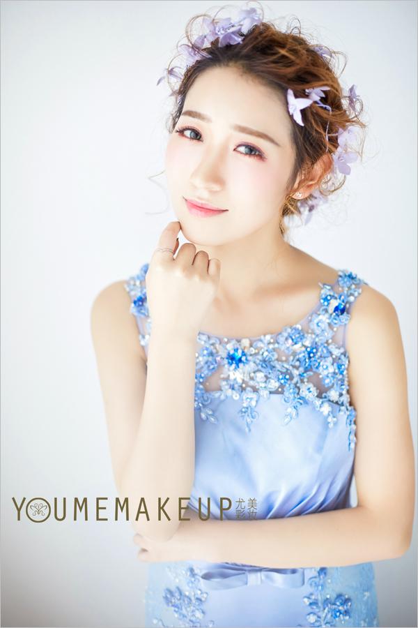 清新韩式新娘造型 成为春日最美的画卷_妆面赏析_影楼