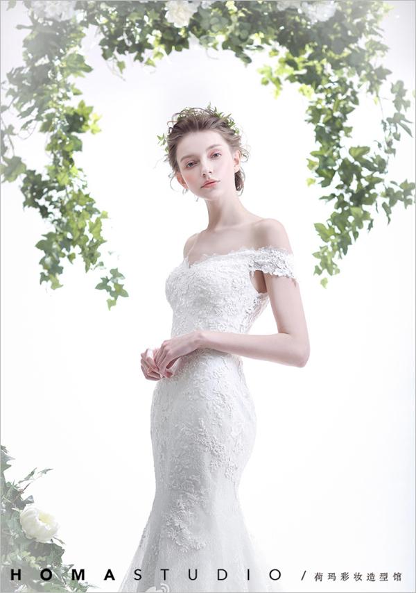 清新森系的新娘造型 散发出文艺优雅的气息图片